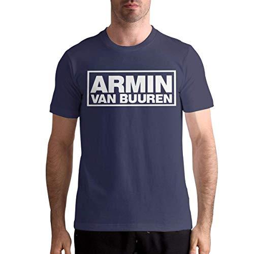huatongxin Camiseta Armin Van Buuren, Camiseta de algodón para Hombre, Camisetas Deportivas de Moda, Camiseta de Manga Corta con Cuello Redondo