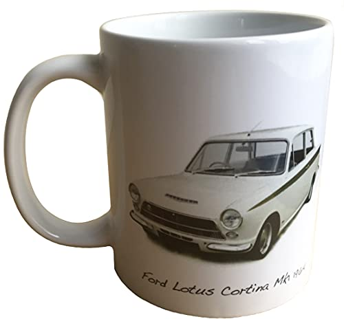Witherden's Workshop Classic Car Mug - Ford Lotus Cortina Mk1 1964