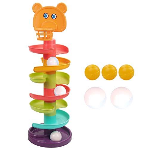 dontdo 1 Unidades de la pista de la bola de varios niveles educativos de plástico de la pista de juguetes para el cabrito Glider Puzzle de montaje de juguete 6