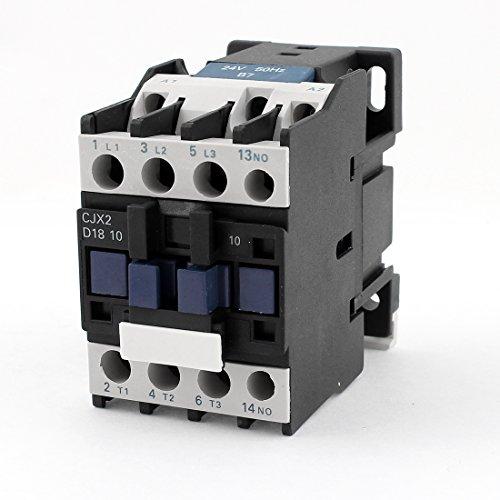 Aexit CJX2-18 Contactor de CA Relé de arranque del motor 24V Bobina voltios Trifásico Poste Ui (model: I6426VIX-2548JN) 660V Ith 32A