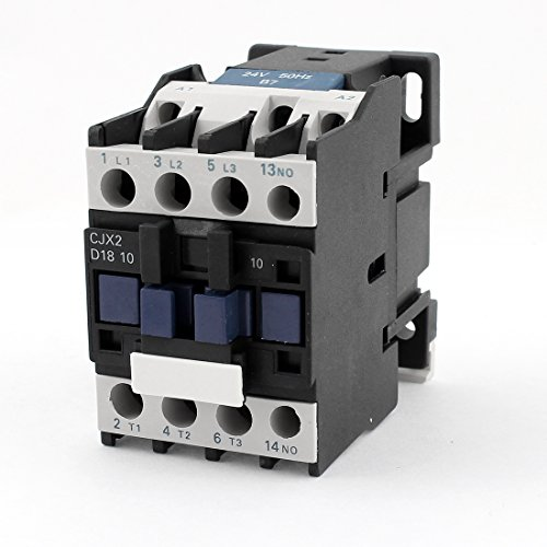 Aexit CJX2-18 AC Distribution electrical Contactor Motor Starter Relay 24V Coil Volt 3-Phase Pole Ui 660V Ith 32A