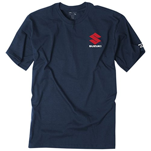 Factory Effex Tee Shirt - Suzuki Shutter - Navy (Medium)