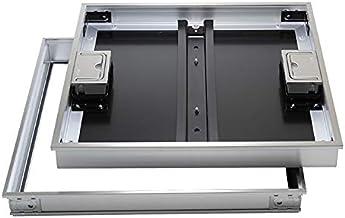 【ナカ工業】床点検口 〜高荷重モデル〜 NHF-SGS/SGSK ステンレス目地で高級感ー磁気タイル仕上用ー回転式取手(鍵無し/鍵付き) (450×450 鍵付き)