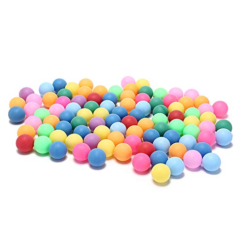 50Pcs/Pack Colored Ping Pong Balls 40mm 2.4g Entertainment Table Tennis Balls Mixed Colors for Game and Advertising