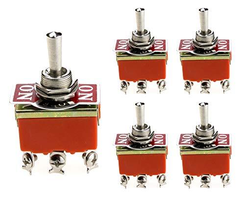 5 piezas. Interruptor basculante 15 A/250 V ON/OFF/ON/EIN modo de conmutación para automóviles, control industrial