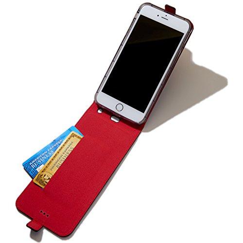 WaveWall 'Flip', étui de téléphone Portable Anti-rayonnement, avec rayonnement testé, housse de Protection en Cuir PU Non toxique, pour Une Exposition réduite des CEM et RF, Apple iPhone 7 Plus