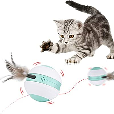 Mystery Interactive Cat Toy Ball, Automatic Rol...