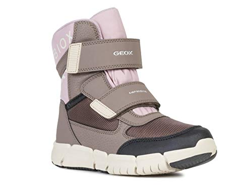 Geox Mädchen High-Top Sneaker FLEXYPER Girl ABX, Kinder Sneaker,Sportschuh,Sneaker-Stiefelette,mid-Cut,atmungsaktiv,Smoke Grey/Old Rose,33 EU / 1 UK