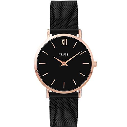 CLUSE dames analoog kwarts horloge met roestvrij stalen armband CW0101203024