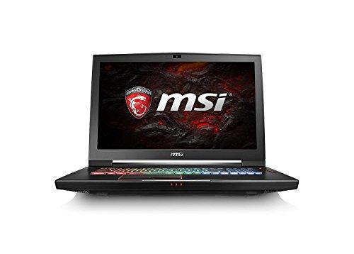 MSI GT73VR-6RF4K32SR451 43,9 cm (17,3 Zoll) 4K-UHD Laptop (Intel Core i7-6820HK, 32 GB RAM, 512 GB SSD + 1 TB HDD, NVIDIA GF GTX1080, Windows 10 Home) schwarz