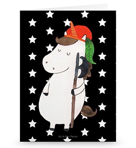 Mr. & Mrs. Panda Grußkarte Einhorn Bube - Einhörner, Unicorn, Einhorn, Bube, Mittelalter, Grusskarte, Klappkarte, Einladungskarte, Glückwunschkarte, Hochzeitskarte, Geburtstagskarte