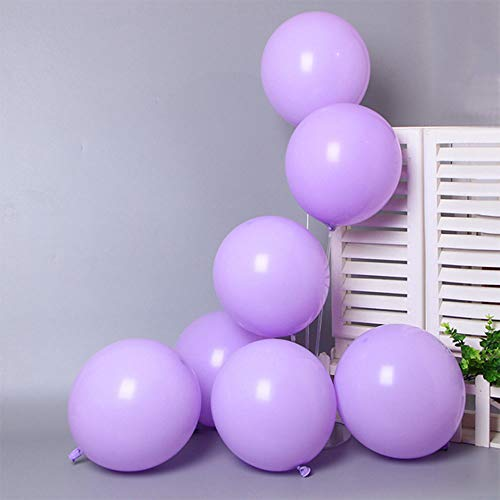 AMS 100ct 12'Pastel Balloon Macaron-Candy-Colored Rainbow Latex Balloons for birthday wedding holiday family gathering Party Decorations (Purple)