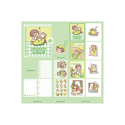 GRAFTS - Cuaderno de notas de bolsillo con hojas móviles, plan, caja de regalo de cumpleaños