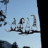 Stahlzweig Goblin Dekoration, Metall Tier Silhouette Kunst, Metall Baum Kunst Metall Goblin Garten Stahl Silber, Indoor Outdoor Ornament, Ostern Weihnachten Geschenk Dekoration (A)
