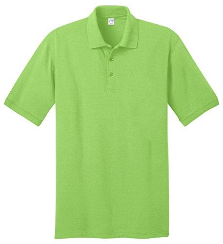Port & Company Men's 55 Ounce Jersey Knit Polo L Lime