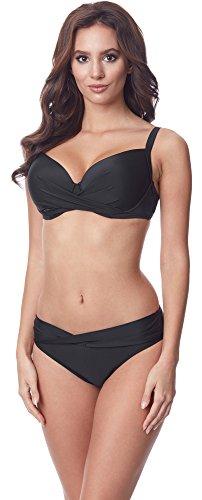 Merry Style Conjunto Bikini Sujetador y Bragas 2 Piezas Mujer P654-25TSG(Negro, EU(Top 70 C / 36)=ES(85C/38))