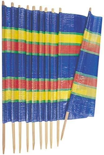 garden mile® 8 POLE HEAVY DUTY MULTICOLOUR GARDEN WINDBREAKER BEACH SUN SHADE HOLIDAY CARAVAN & CAMPING SHELTER WINDBREAK TALL WINDBREAKER PRIVACY SCREENS (8 Pole Wind Break 462cm x 120cm)