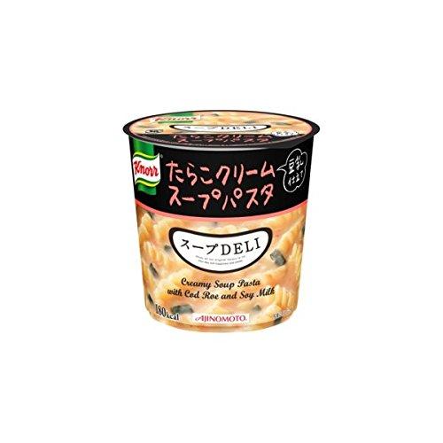 味の素 【まとめ買い】 クノール スープDELI たらこクリームスープパスタ(豆乳仕立て) 44.7g×18カップ(3ケース)