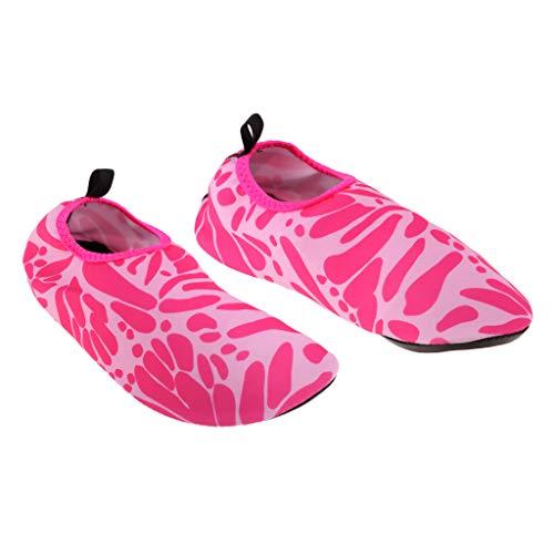 SM SunniMix Botas de Neopreno Antideslizantes Calcetines de Natación con Aletas para Hombres, Mujeres, Deportes Acuáticos, Tamaños - Rosa m 36-37, Tal como se Describe