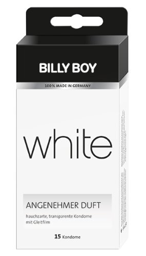 Billy Boy white Kondome transparent, 15er Packung, 15 Kondome