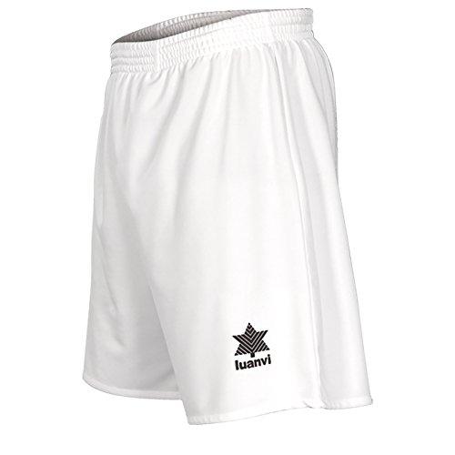 Luanvi Standard Pantalón Corto básico de Deporte, Hombre, Blanco, S