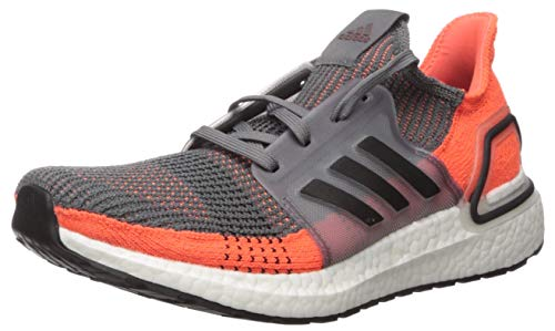 adidas Men's Ultraboost 19 Running Shoe, Grey/Black/Hi-res Coral, 6.5 UK