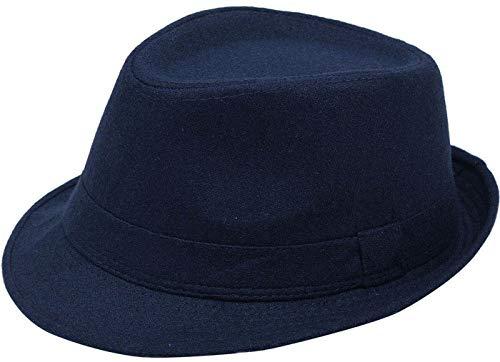 Black 1PCS Womens Classic Wool Blend Fedora Hat with Belt Buckle Wide Brim Hat Church Derby Cap Jazz Hat Trilby Caps 56-58cm//22-22.8