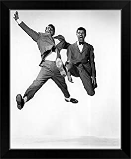 CANVAS ON DEMAND Dean Martin and Jerry Lewis in Jumping Jacks - Vintage Publicity Photo Black Framed Art Print.