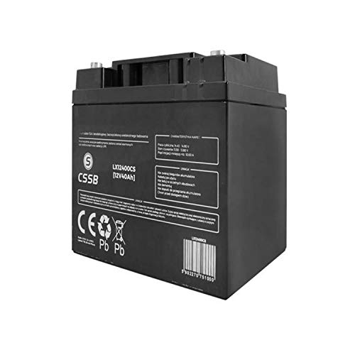 CSSB LX12400 Elektrolyt 12V 40Ah Ersatzbatterie Akku Batterie Gel-Batterie Universal Solar-Batterie Gelakkumulator