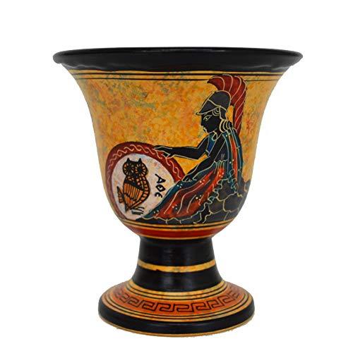 Pythagoras Fair Cup–pythagoreischen–Göttin Athena handbemalt auf Außerhalb