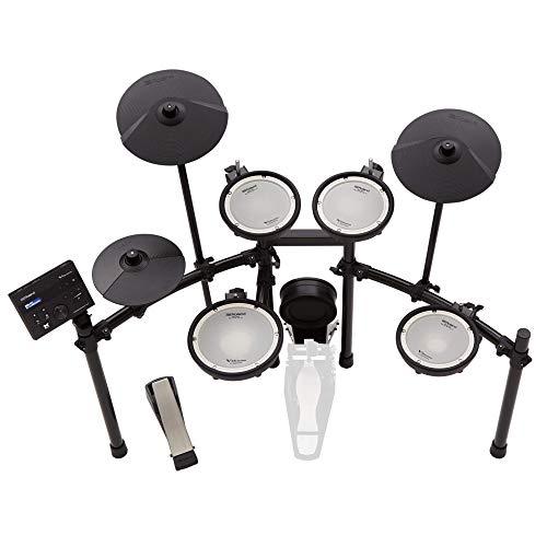 Kit de percusión electrónica Roland TD-07KV, con tecnología Bluetooth para streaming de audio y MIDI, los famosos parches de malla de doble capa de Roland y más de 140 sonidos de percusión diferentes