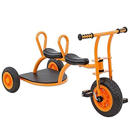 Cacoffay Doppelt Kinder Dreirad Kinder Taxi Tretfahrzeug Kinder Fahrzeug Laufrad Ab 4 Jahre Bis 8 Jahren