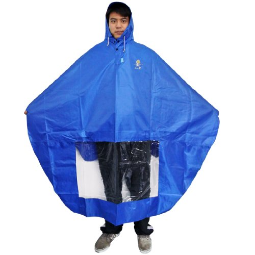 NAVAdeal Waterproof Rain Cape Mobility Scooter Cover Rainproof Coating Hooded Raincoat Rainwear Poncho | Blue | Great Rain Gear for Motorized Scooter, Power Wheelchair, Bike, Keep You Dry in Rainy Day