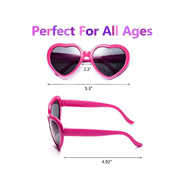 Dozen Pack Heart Sunglasses Party Favor Supplies Holiday Accessories Collection