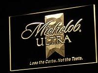 Michelob Ultra Beer LED看板 ネオンサイン ライト 電飾 広告用標識 W40cm x H30cm イエロー