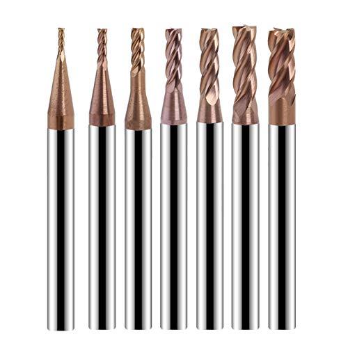 VIENDADPOW Industrial Bright Bits 4 Flauta Alloy Fin Mill Tungsteno Acero Cortador de fresado CNC Herramientas Accesorios de broca para la teja de porcelana Concreto de cristal de ladrillo poco