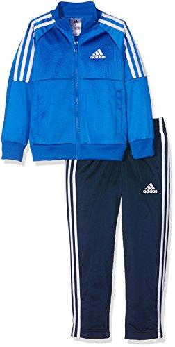 adidas YB Tibero TS OH Trainingsanzug für Junge, Blau (Blau/Weiß), 128
