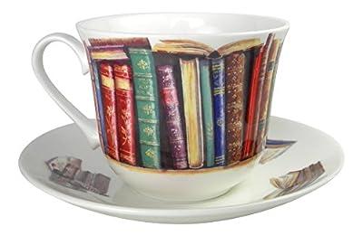 Roy Kirkham Creative Writing Book Lovers Breakfast Tea cup and Saucer Set Fine Bone China England
