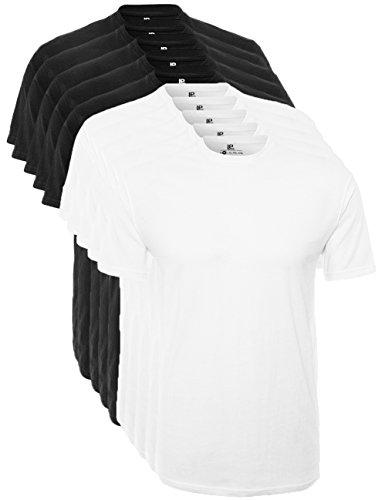 Lower East T-shirt à col ras du cou hommes, Lot de 5, Multicolore, XXL