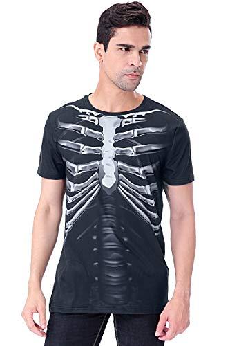 COSAVOROCK T-Shirts Maglietta Costume da Scheletro Uomo (XXL, Pellicola radiografica Medica)