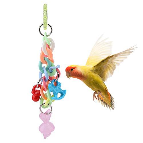 HEEPDD Papegaai Hangend Kauwspeelgoed, Huisdieren Vogels Bijten Swing Cage Accessoire Parakeet Kleurrijke Plastic Ketting Speelgoed voor Cockatiels Kleine Medium Papegaai