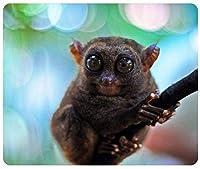 かわいい小さなフィリピンメガネザル猿ゲーミングマウスパッドマウスパッドマット