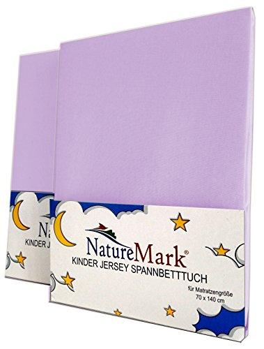 NatureMark Spannbettlaken, Flieder/Lavendel