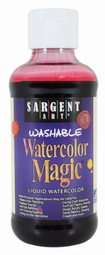 Sargent Art 22-6020 8-Ounce Watercolor Magic, Red