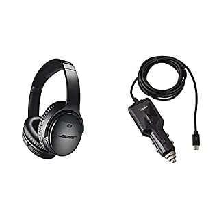 Bose QuietComfort 35 (Series II) Wireless Headphones, Noise Cancelling - Black with AmazonBasics Car Charger (B076TRVKBY) | Amazon price tracker / tracking, Amazon price history charts, Amazon price watches, Amazon price drop alerts