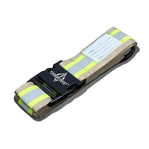 Cinta reflectante para maleta Fire & Reccue, con rayas reflectantes, color dorado y plateado