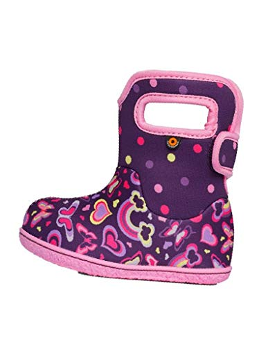 BOGS Baby Waterproof Insulated Snow Boot, Rainbows -Purple Multi, 7