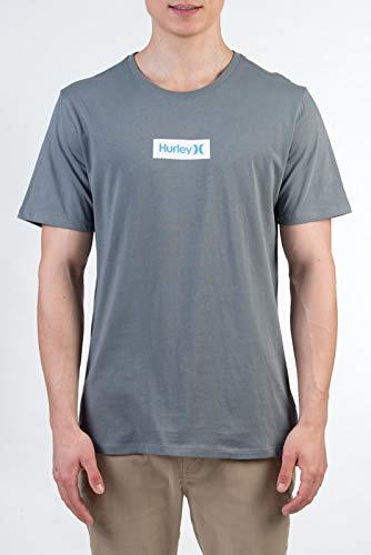 Hurley Herren T-Shirt M O&O S Box S/S Tee, Camelia, M, AJ1777