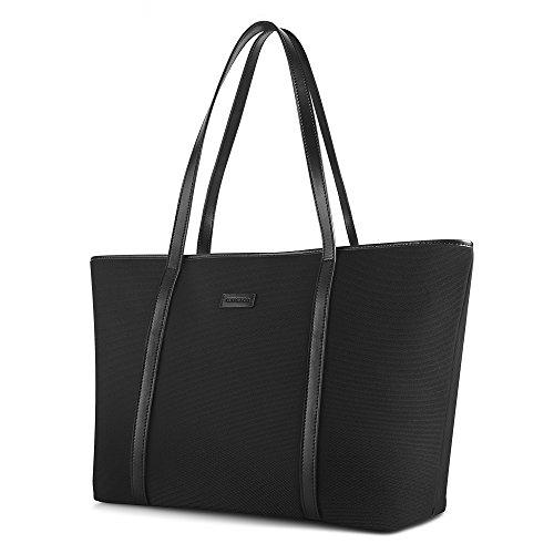 CHICECO Nylon Groß Reise Shopper Tasche Handtasche Damen - Schwarz