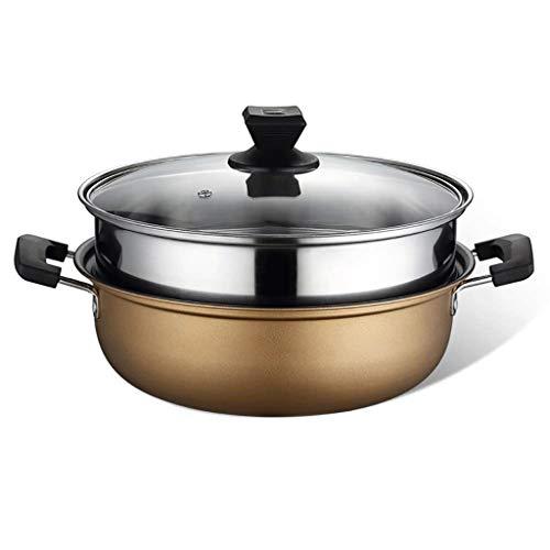 WALNUTA Pentole antiaderenti Soup Steamer a Due Piani della Famiglia Hot Pot pentola di Cottura a Vapore Piccolo